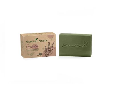 Natural Noble Lavender olive and laurel Aleppo handmade vegan soap