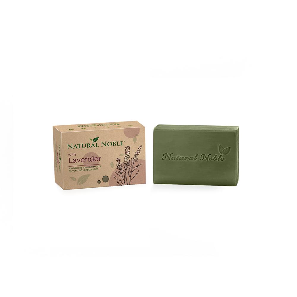 Natural Noble Lavender olive and laurel Aleppo handmade vegan soap
