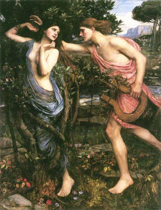 Apollo's love to Daphne