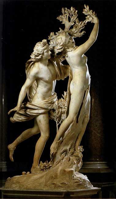 statue of Apollo and Daphne