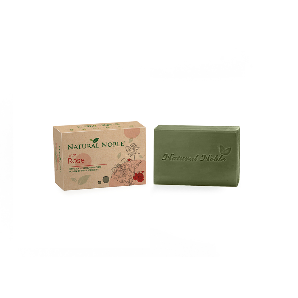 Natural Noble Rose olive and laurel Aleppo handmade vegan soap